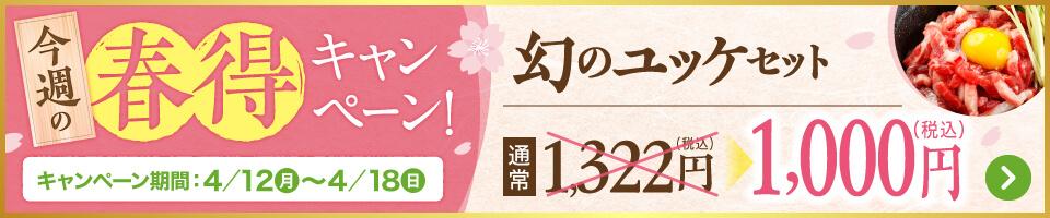 春得_幻のユッケセット
