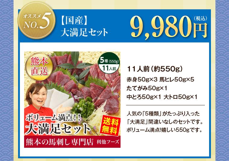 【国産】大満足セット 9,980円(税込)