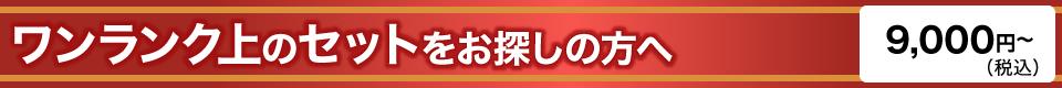ワンランク上のセットをお探しの方へ 9,000円(税込)〜